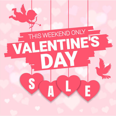 Fall in love with Valentine's Day savings!