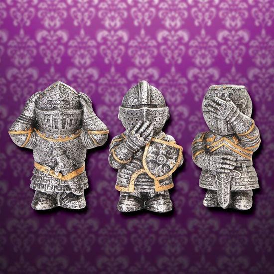 No Evil Knights Set of 3 Figurines