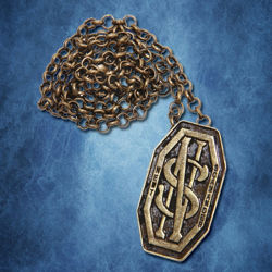 Newt Scamander Monogram Pendant Pin with Chain