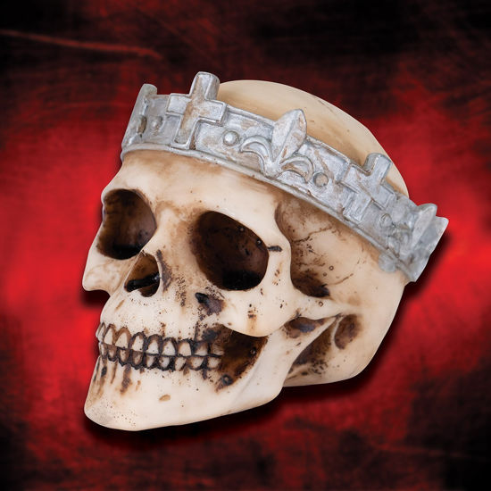Heraldic Skull Cold Cast Resin Bust