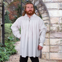 White Cotton Swordsman's Shirt