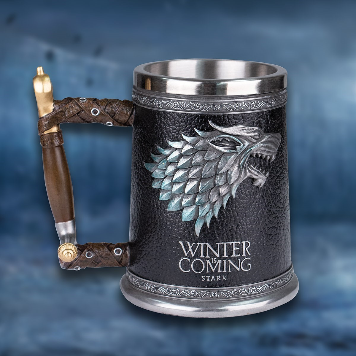Game of Thrones House Stark Dire Wolf Tankard