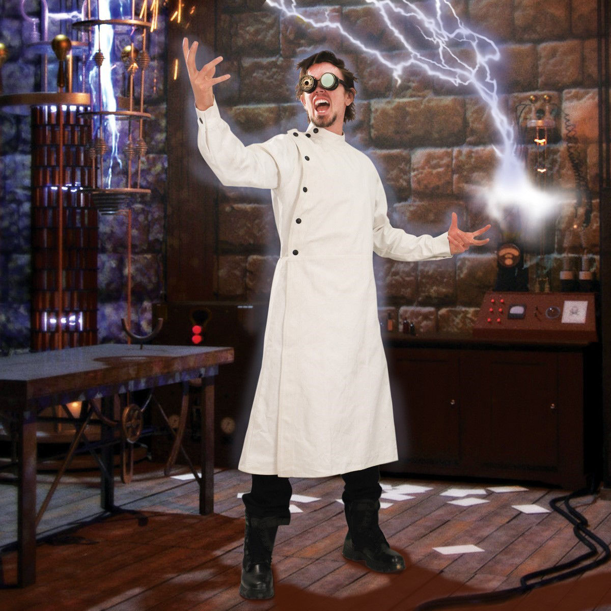 Mad Scientist Victorian White Lab Coat