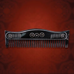 Darkened Horn Viking Comb