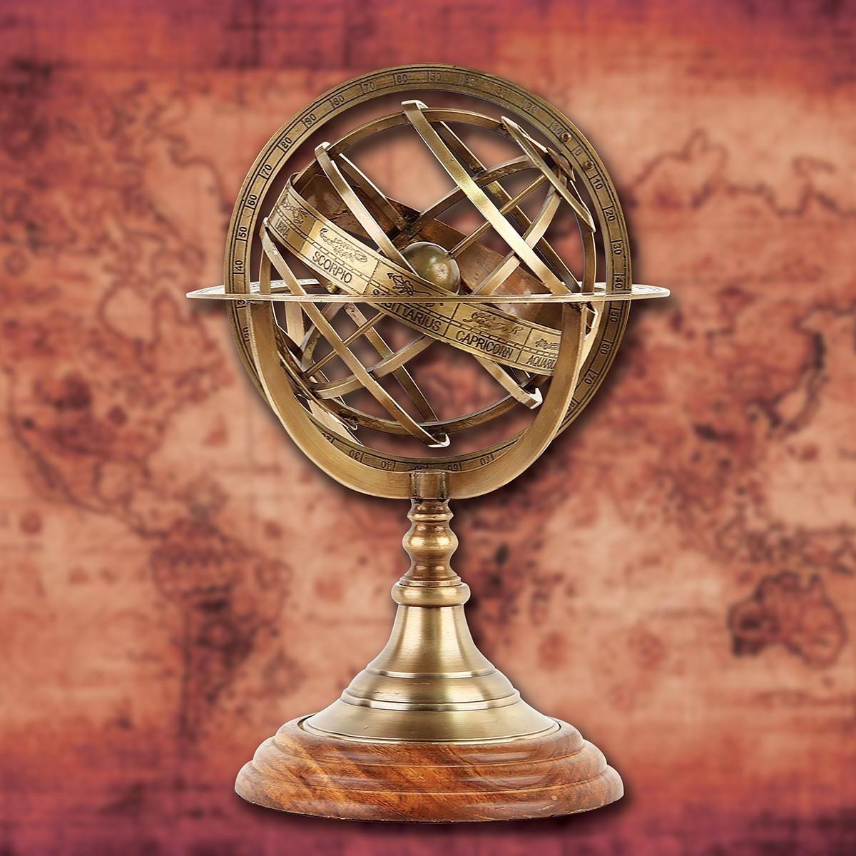 Renaissance Brass Armillary Sphere