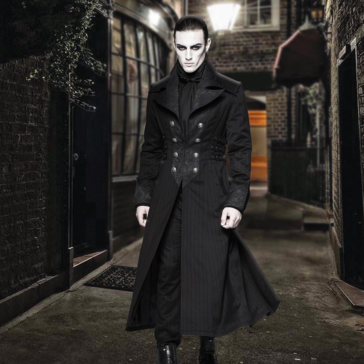 Midnight Wolf Black Long Coat