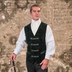 Marquis Green Velvet Steampunk Vest