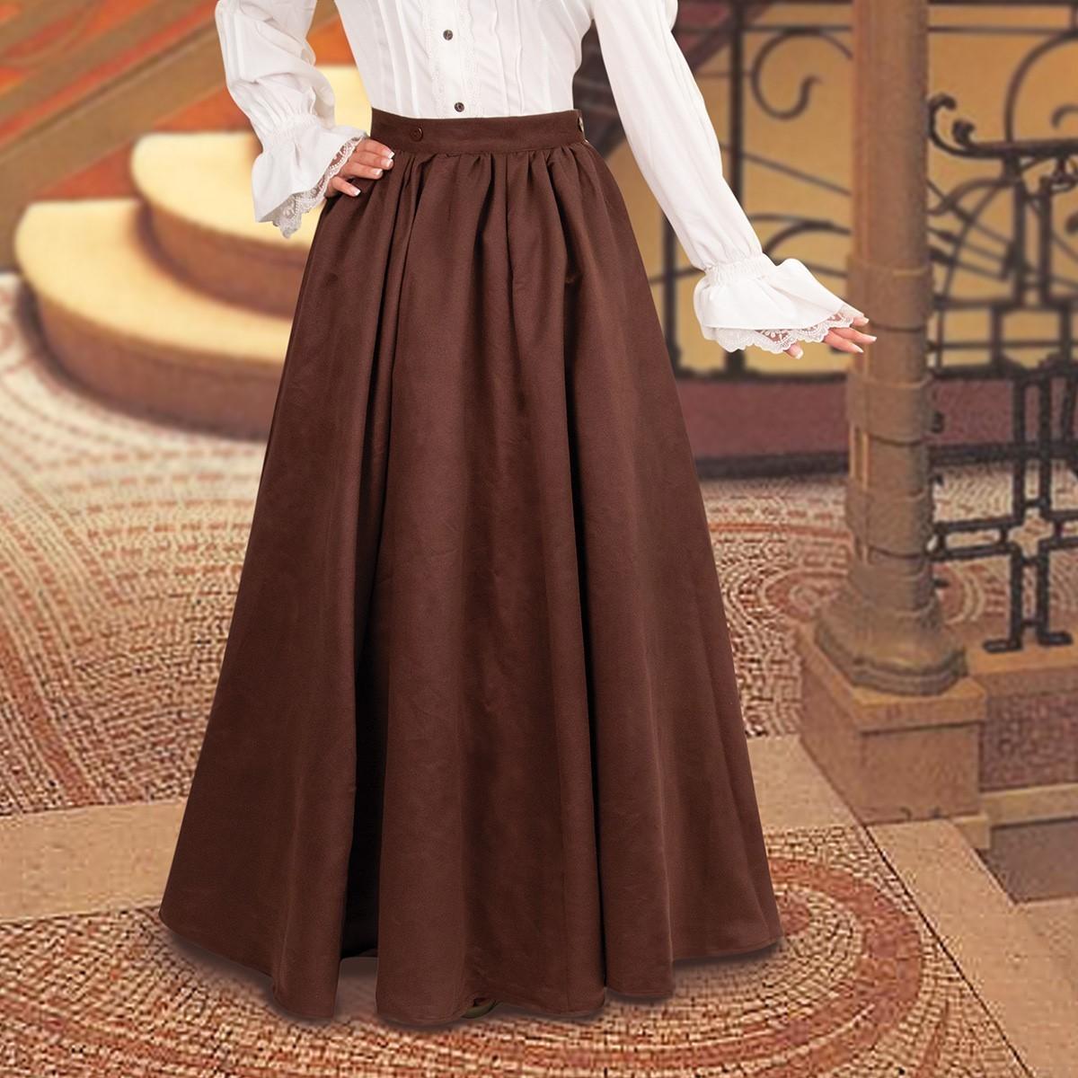 Chocolate Brown Skirt
