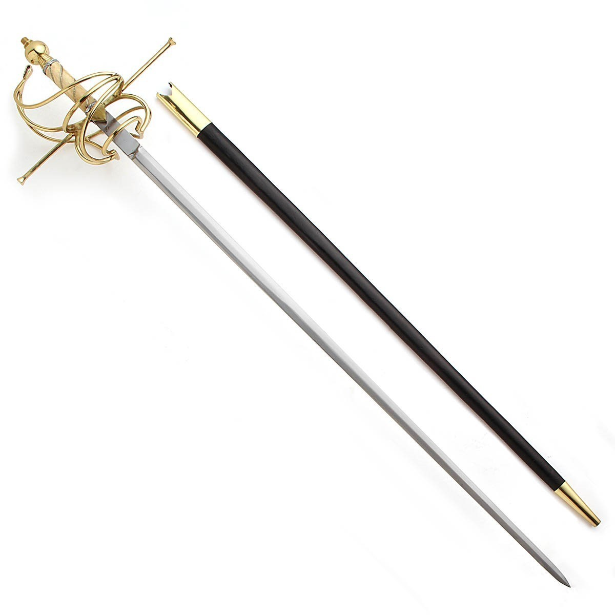 17th Century Bone Handled Rapier with Leather scabbard