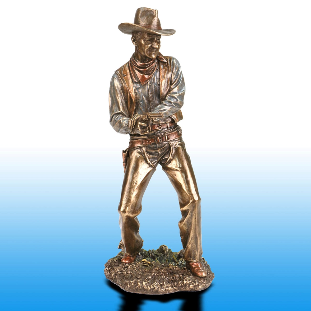 Picture of Firing Cowboy Statue