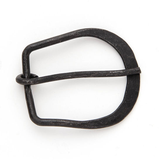 Picture of Forged Iron Medieval Belt Buckle Plain