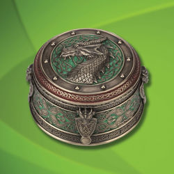 Picture of Celtic Dragon Trinket Box