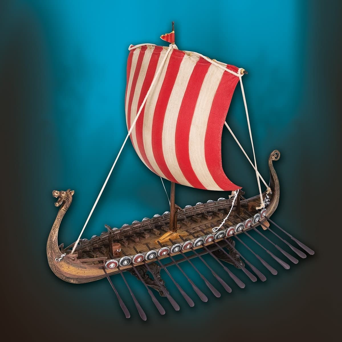 Picture of Viking Longship Drekar Statue