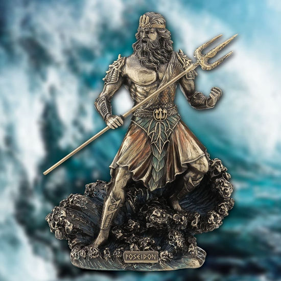 Picture of Poseidon Sculpture Statue Figurine