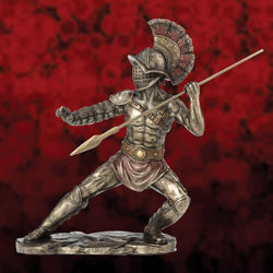 Picture of Murmillo Gladiator weilding Hasta Statue Sculpture Figurine