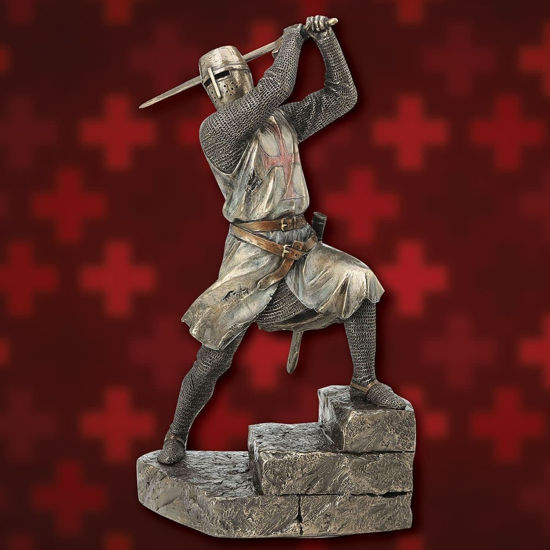 Picture of Templar Knight with Sword Statue