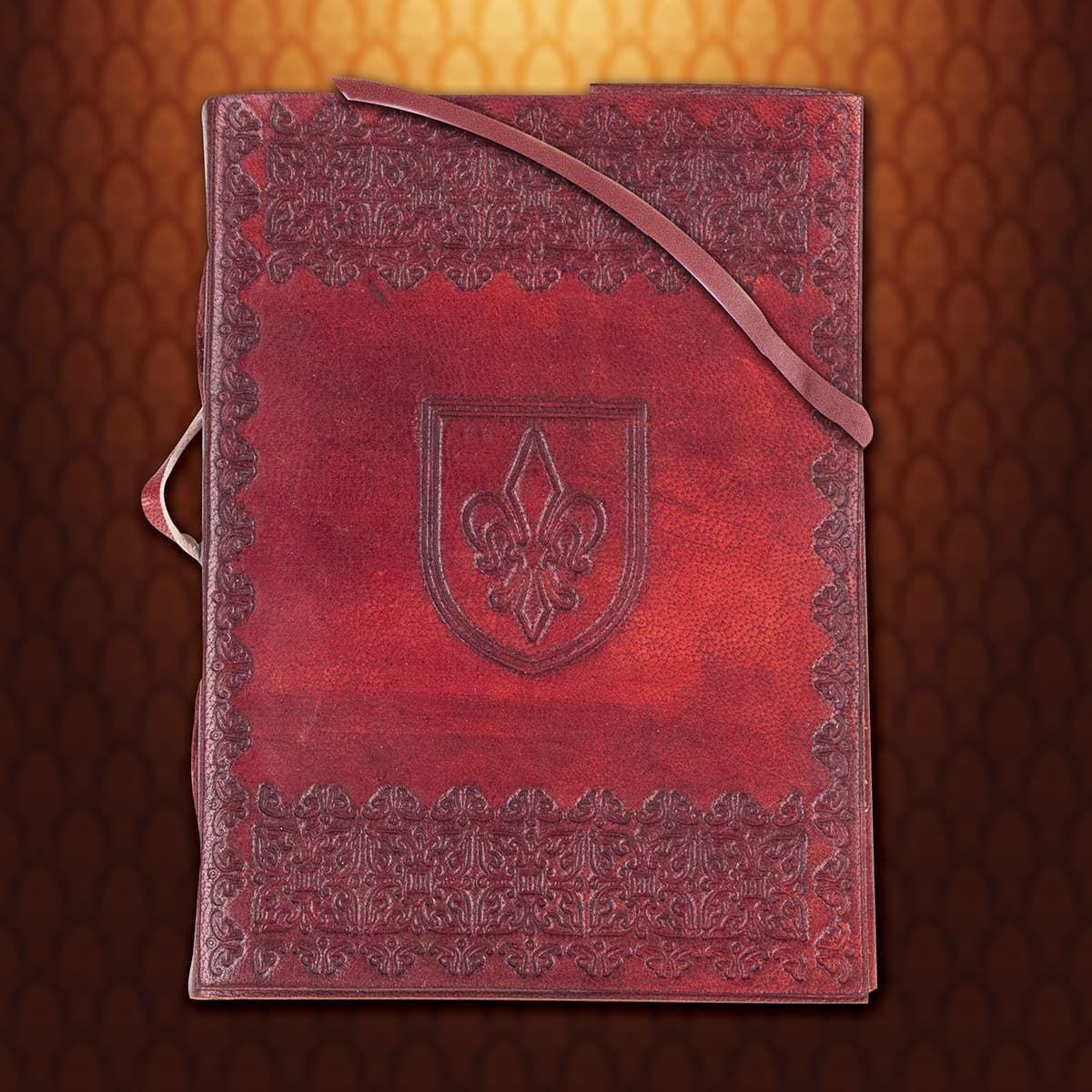 Picture of Fleur de Lis Leather Journal