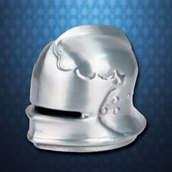Mini Metal Archer's Sallet Paperweight