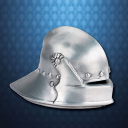 Mini Metal Knightly Sallet Helmet Paperweight