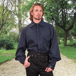 Neo Gothic Steampunk Blue Shirt
