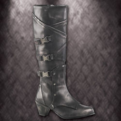 Picture of Pewter Warlord Steampunk Womens Boots