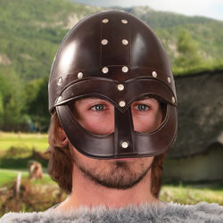 Picture of Leather Vendel Viking Helmet