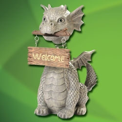 Garden Dragon w/ Welcome Sign