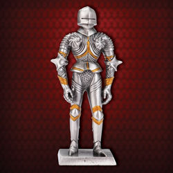 Mini Gothic Metal Knight Statue