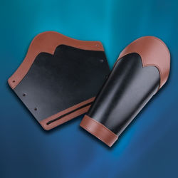 Huntsman Leather Vambraces Black / Brown