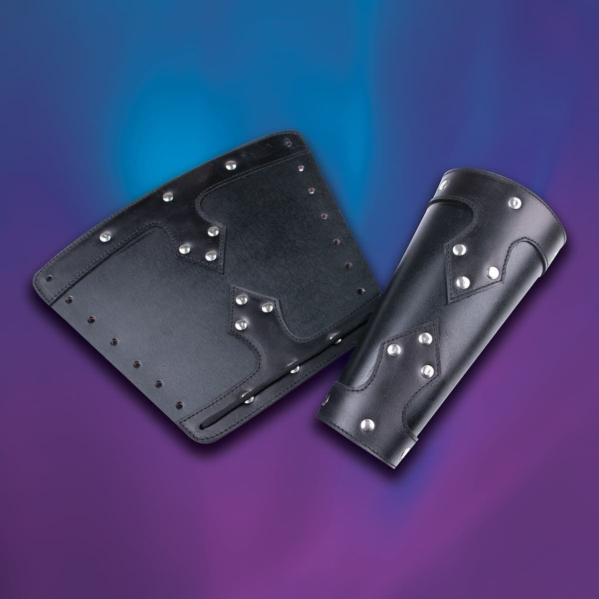 Knightly Leather Vambraces black