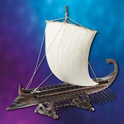 Grecian Warship Statue
