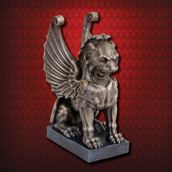 Gothic Lion Gargoyle Bookend