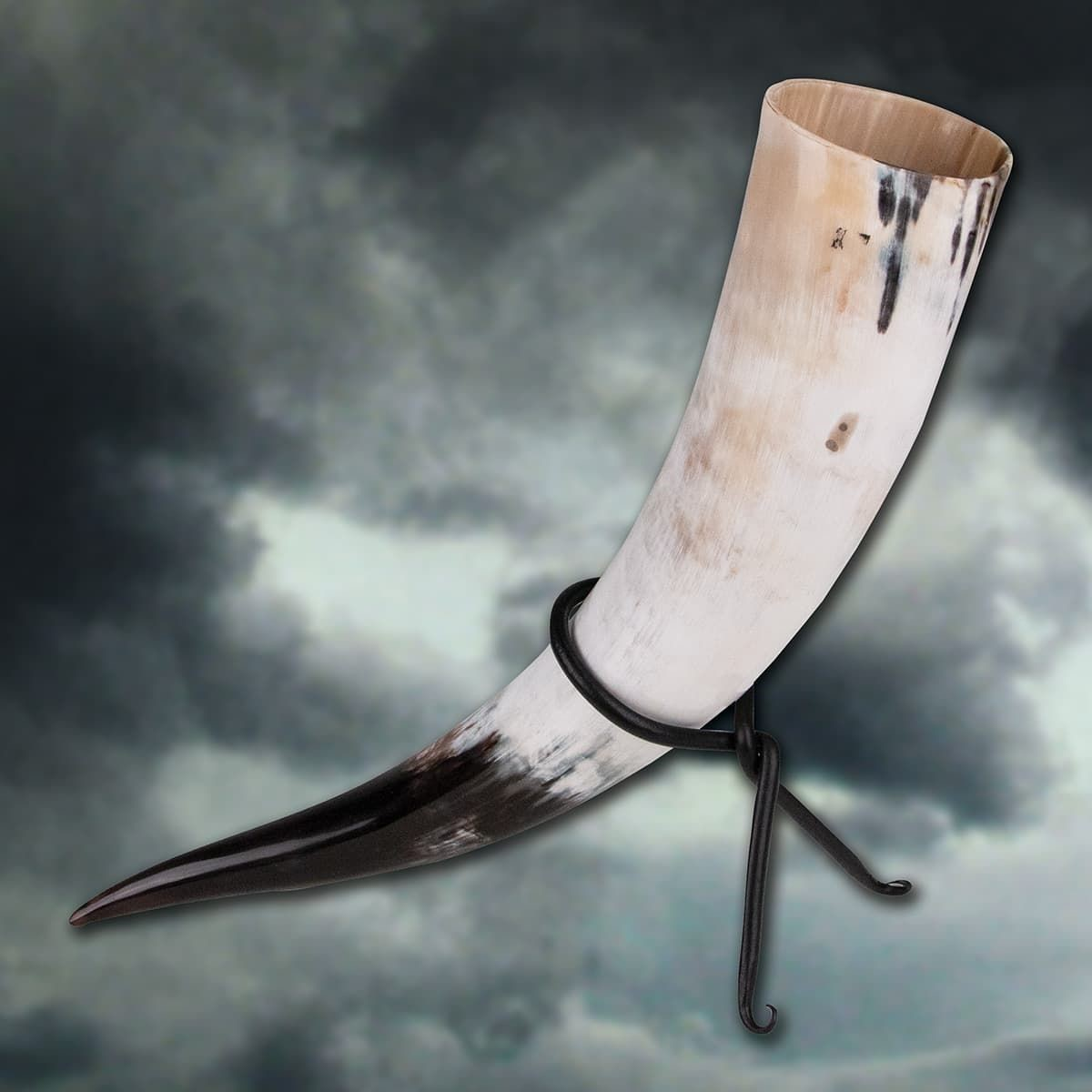 Thor's Oversized Drinking Horn with Iron Stand