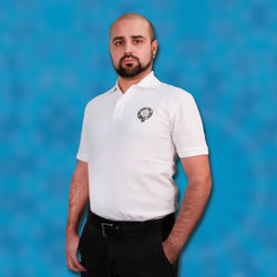 White Polo Shirt with Embroidered Scottish Clan Badge