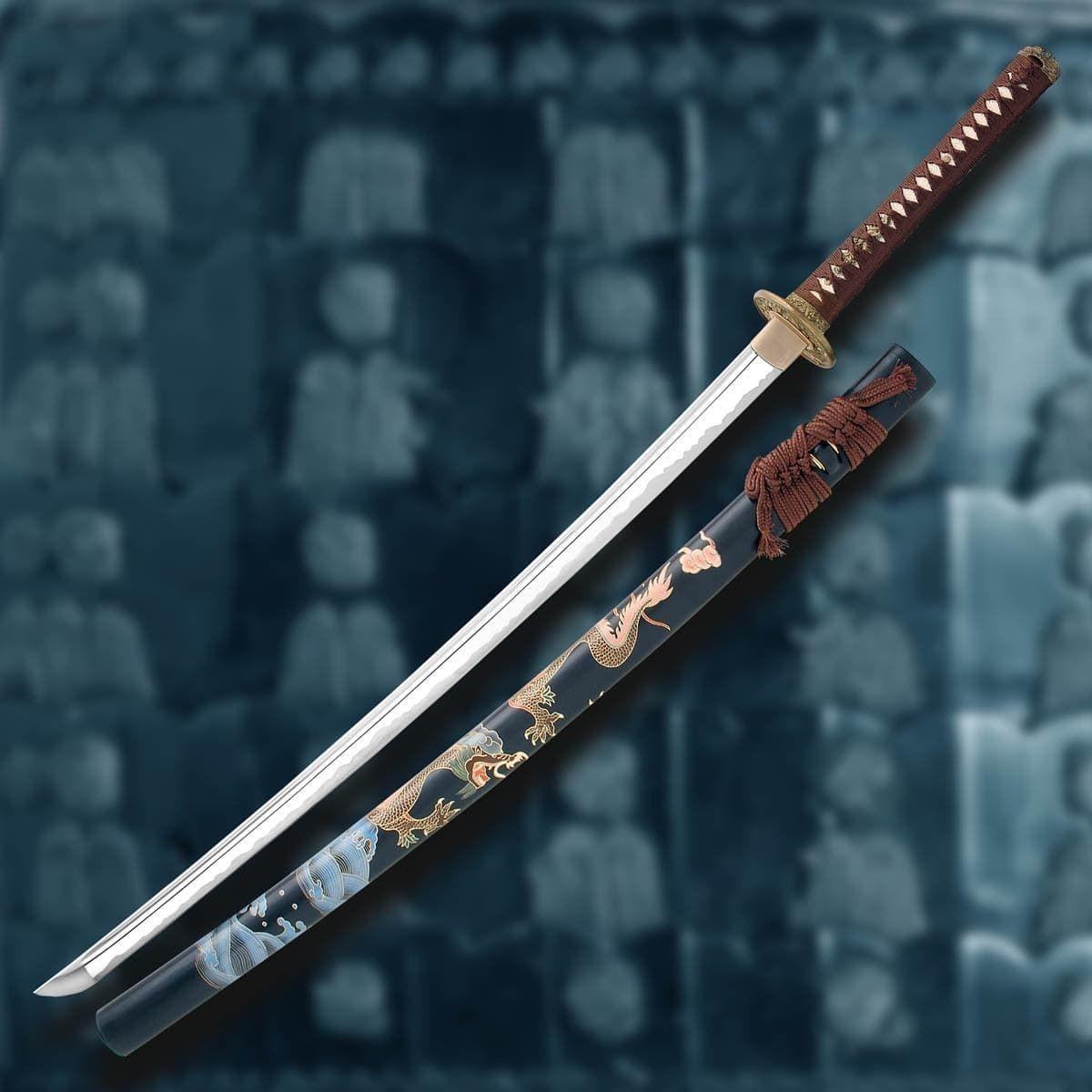 Ryumon Dragon Katana with Painted Sheath