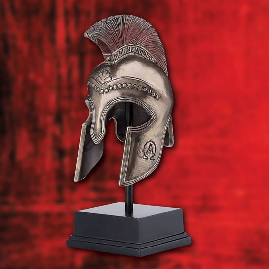 Greek Hoplite Helmet on Stand