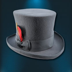 Grey Bank Street Top Hat