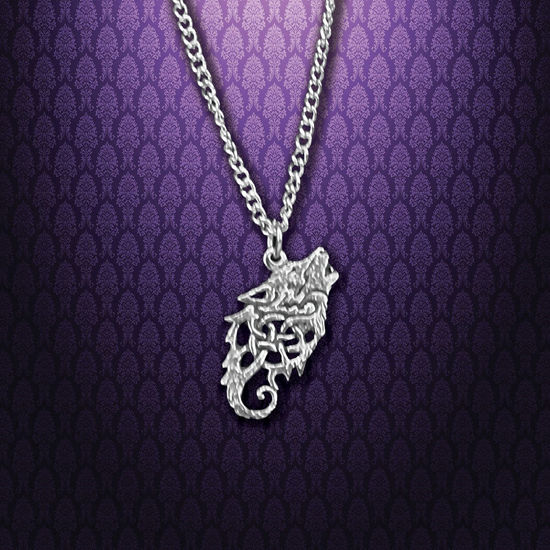 Pewter Celtic Wolf Necklace