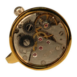 Picture of Steampunk Clockwork Mechanical Cufflinks