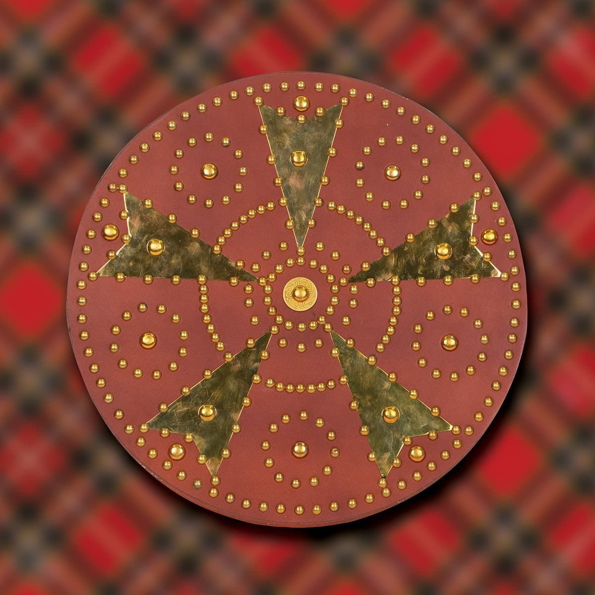 Scottish Highland's Targe Shield with Brass Decoration