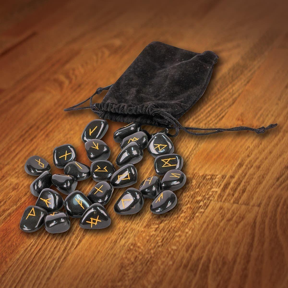 Viking Stone Rune Casting Set