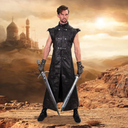 Warlock Long Black Vest