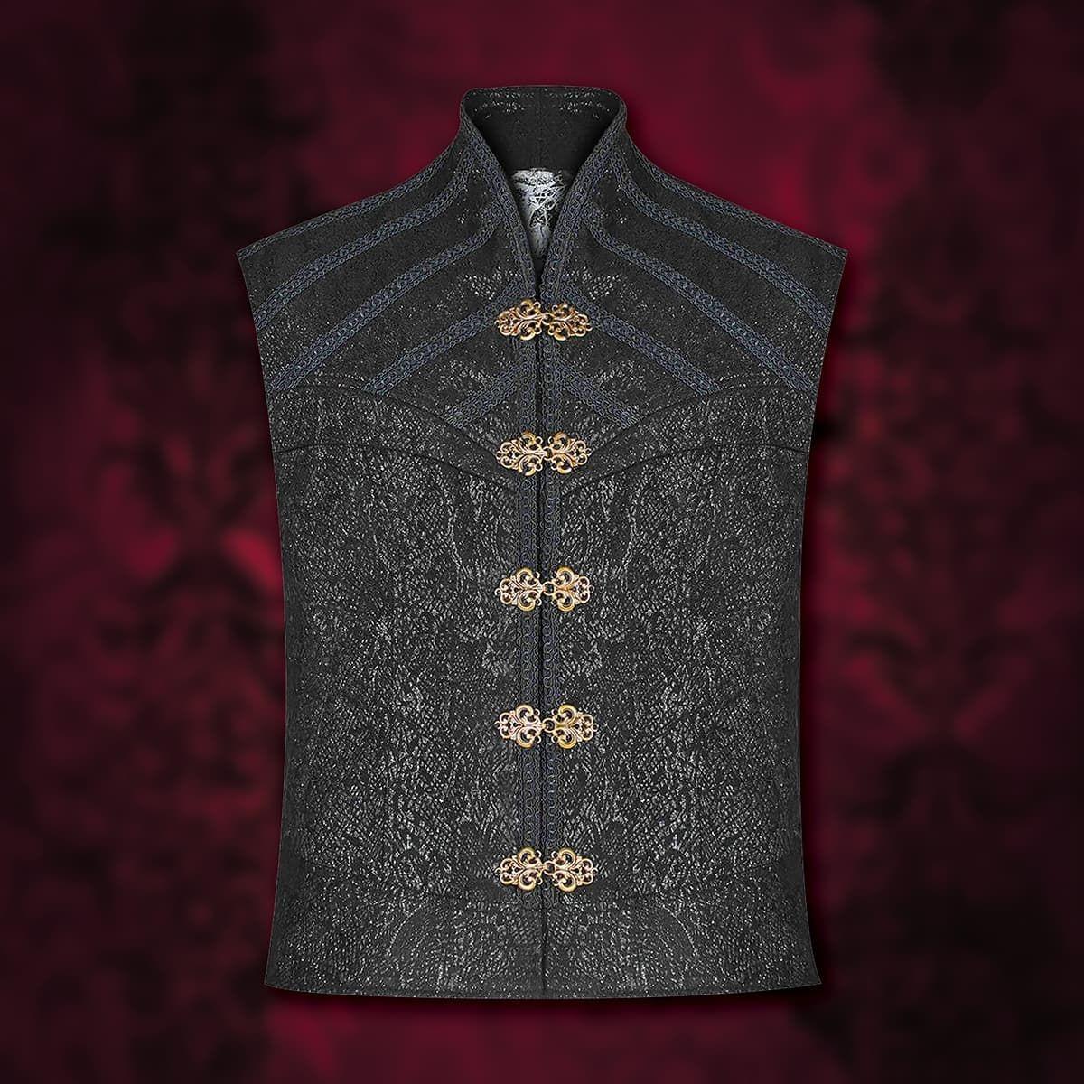 de Sade Black Jacquard Waistcoat Vest