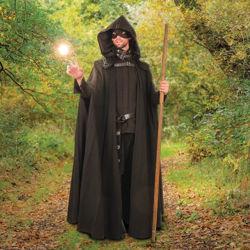 Slayer Hooded Black Fantasy Cloak