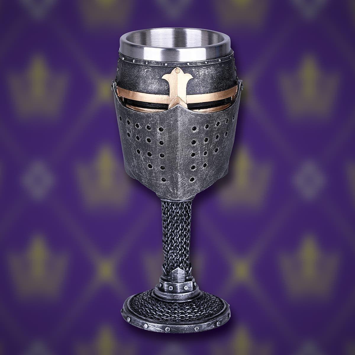 Medieval Crusader Knightly Helmet Goblet Museumreplicas Com