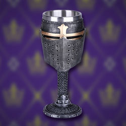 Knightly Helmet Stemmed Resin Goblet