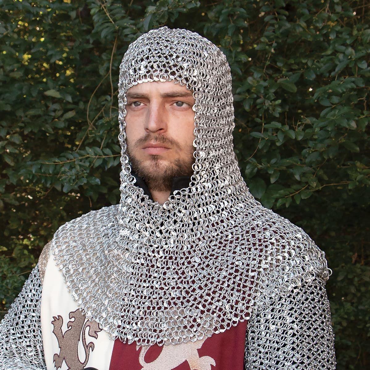 Lightweight Riveted Aluminum Mail Armor Coif