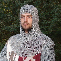 Lightweight Riveted Aluminum Mail Armor Coif