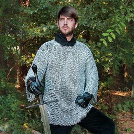 Lightweight Riveted Aluminum Mail Armor Shirt