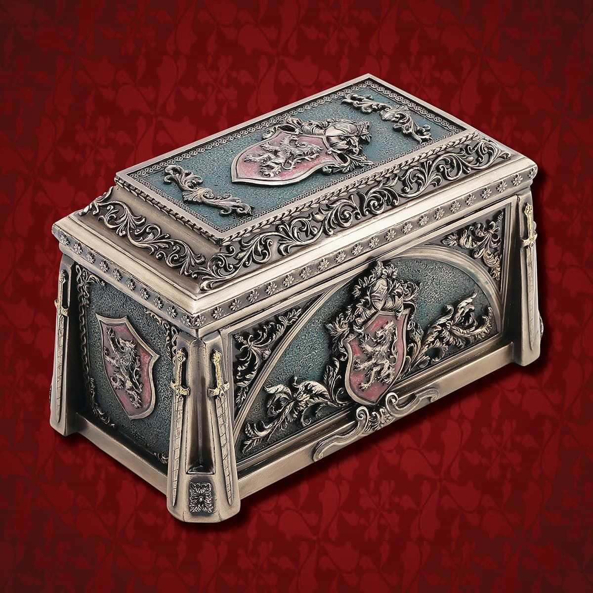 Lion Crest Trinket Box